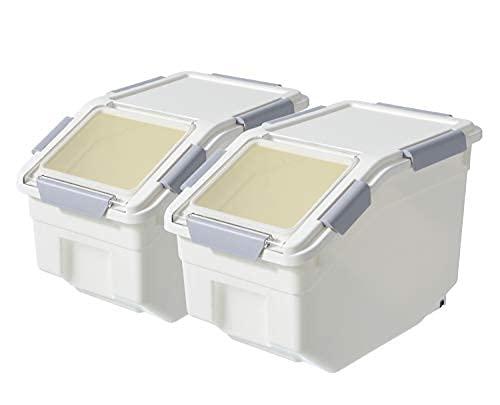 Contenedor de almacenamiento de harina al aire con cuchara, alimentos secos, azúcar, suministros de cocción, conjunto de contenedores de arroz -Bpa libre...