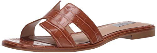 STEVEN by Steve Madden Women's HADY01D1 Sandal, Cognac Crocodil, 7.5 M US