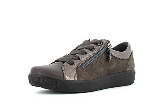 Enval Zachte damesschoenen Sneakers met Rits 4292822 Carbone Maat 37 Carbone