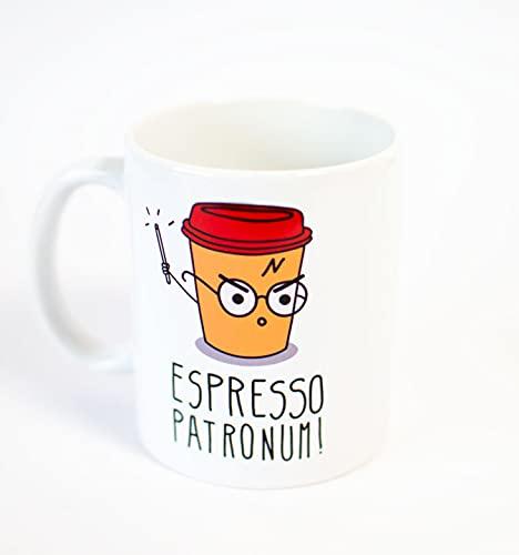 Taza Personalizada con Impresion de Espresso Patronum Inspirada en Harry Potter, Desayuno
