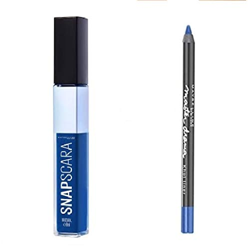 Kit Kit Mascara Snapscara 004 Electric Blue + 1 Crayon Master Drama Khol liner - Liner crayon Bleu - Bleu Electrique (2 produits)