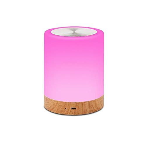 Lámpara de noche de carga de madera creativa V3 lámpara de noche creativa USB touch recargable lámpara de mesa USB