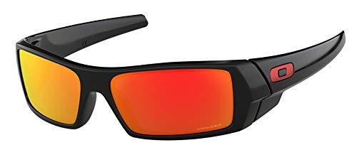 Oakley Gascan OO9014 901444 60M Polished Black/Prizm Ruby Sunglasses For Men +BUNDLE with Oakley Accessory Leash Kit