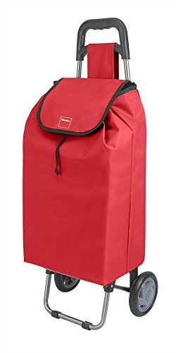 Metaltex Daphne Einkaufstrolley, mit 2Rädern, Metall, 120x60x6cm 120x60x6 cm rot