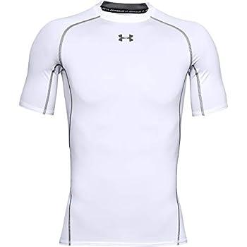 Under Armour Men s HeatGear Armour Short-Sleeve Compression T-Shirt  White  100 /Graphite  X-Large