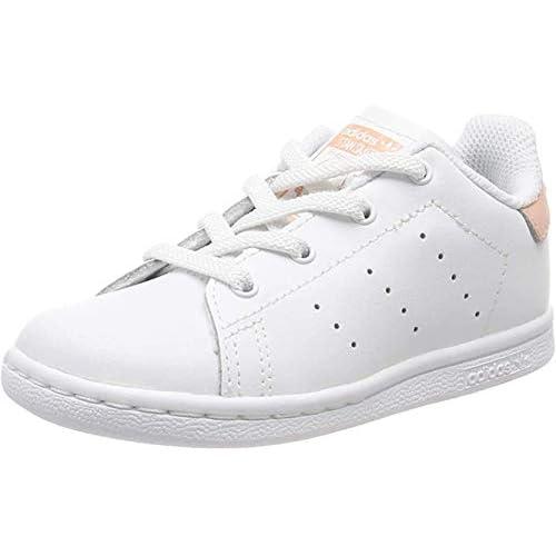 adidas Stan Smith El I, Sneaker Unisex-Bambini, Bianco (Ftwr White/Ftwr White/Glow Pink Ftwr White/Ftwr White/Glow Pink), 23 EU