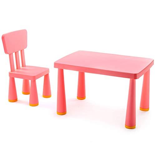 LIUDINGDING-Fauteuil, Chaise de bureau Table Toy table et chaises Bureaux d'étude et des chaises en plastique de haute qualité (Color : Pink)