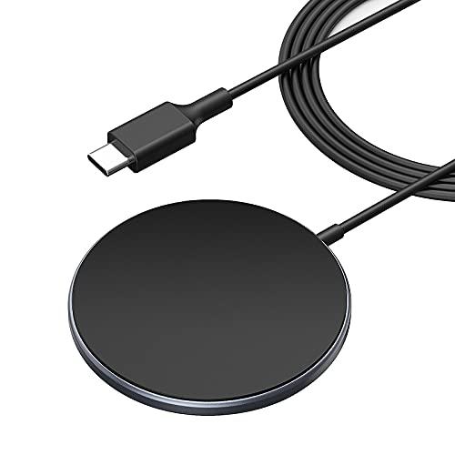 Magnetisches Wireless Charger, induktive Ladestation mit Mag-Safe Schnelles Ladegerät für iPhone 12/11 Pro Max/SE2/XR/X Galaxy Note 10/S20