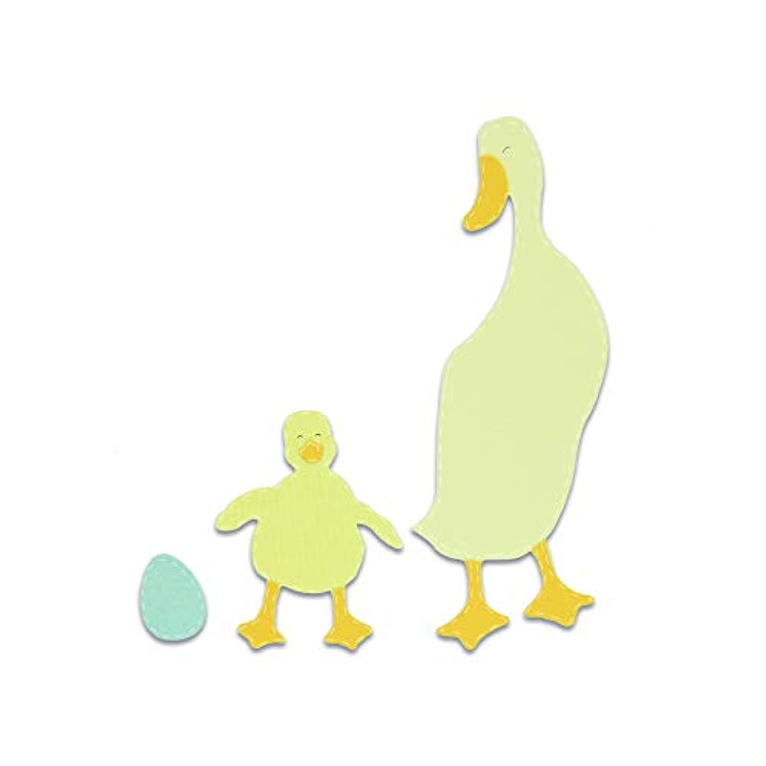 Sizzix 663306 Duck and Duckling Dies, One Size, Multicolor