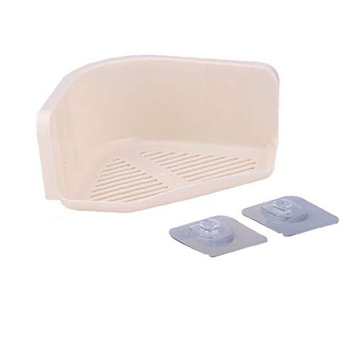 Kunststoff Saugnapf Badezimmer Lagerregal Küchenecke Organisatoren Dusche Regallager (beige)