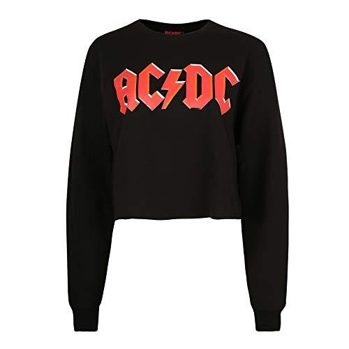 AC/DC Damen Title Sweatshirt, Schwarz (Black BLK), 38 (Hersteller Größe:Medium)