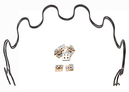 House2Home 31' Sofa Upholstery Spring Replacement, 2pk Repair Kit for Furniture Chair Couch, Includes Clips and Instructions