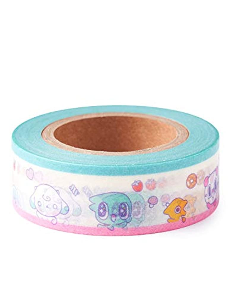 Spoonz Masking Tape Mixed Characters - 0.5 Inch Masking Tapes for General Purpose with Multi-Use for Holiday Christmas Crafts Decorative Maskng Rolls Fun Playful Tape for Nuest Nu'est Fans Teen Girls
