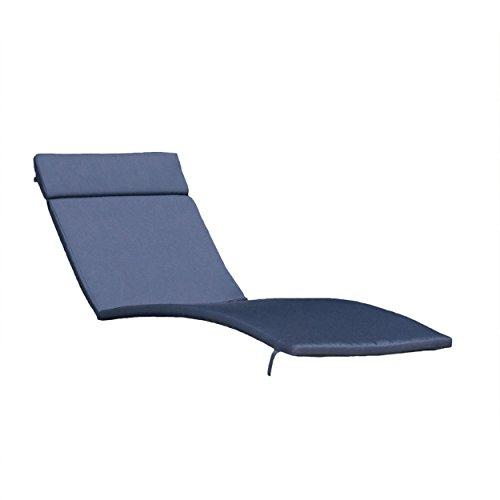 Christopher Knight Home Salem Outdoor Lounge Cushions, 2-Pcs Set, Navy Blue