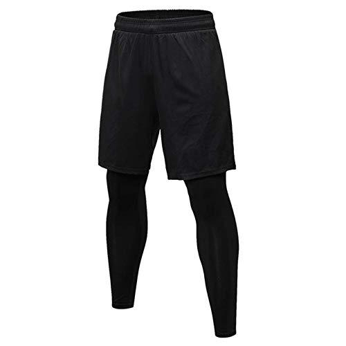 sdawa Mallas Deportivas de Secado Rápido Baselayer Funcionamiento Pantalón de Compresion para Hombre Deportes Pantalón Corto Hombre