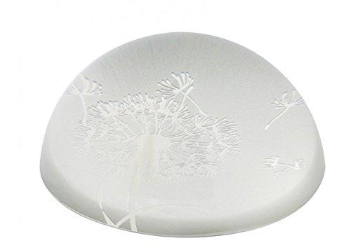 Briefbeschwerer Pusteblume, Kristallglas 3,8 cm sandgestrahlt
