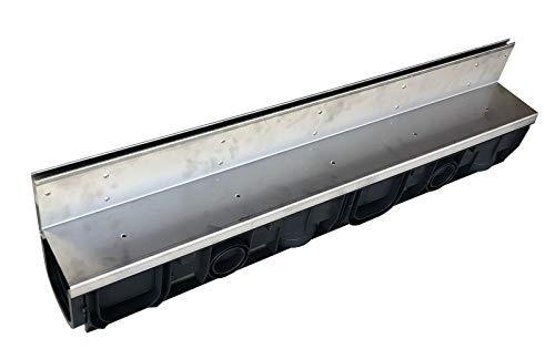 Schlitzrinne mit Schlitzaufsatz Edelstahl 100mm, Länge 1 Meter