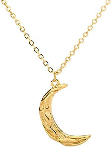 Aluyouqi Co.,ltd Collar Collares con Colgantes De Luna Vintage para Mujeres Hombres Joyería Boho Collares De Cadena De Media Luna De Acero St