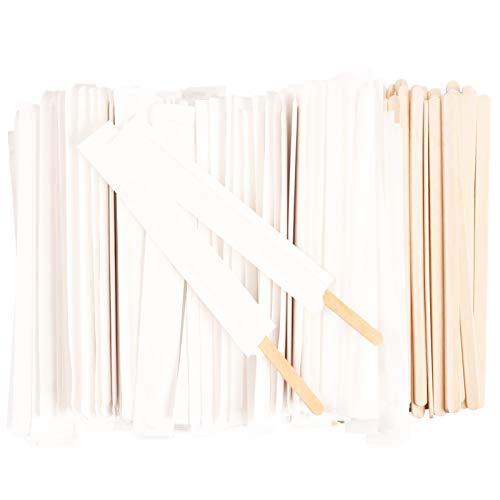 ANTETOK - Bastoncini usa e getta, in legno di betulla, con involucro di carta, lunghezza 14 cm, per mescolare tè, caffè, 500 pz