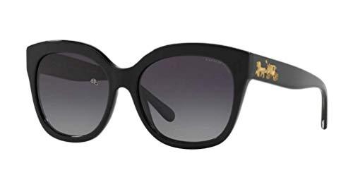 Coach Gafas de Sol HC 8264 Black/Grey Shaded 56/17/140 mujer