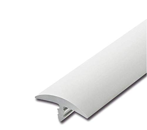 Stegkante, Schutzkante, Stoßkante, Kantenschutz aus PVC für 19mm Plattenstärke in Schwarz, Weiß, Grau, Anthrazit (Weiß)