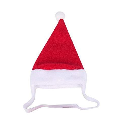 BACKZY MXJP Hundehütte Lustige Weihnachtskleidung Warmes Haustier Hund Katze Kleidung Welpe Santa Red Schal Hut Hirschkopf Niedliche Hunde Umhang Katzen Kostüm Wohnkultur