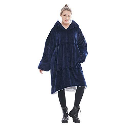 Xingsiyue Felpa con Cappuccio Oversize Coperta Sherpa - Pullover Gigante con Ampia Tasca Frontale - Coperta Casa Calda e Accogliente per Adulti e Bambini