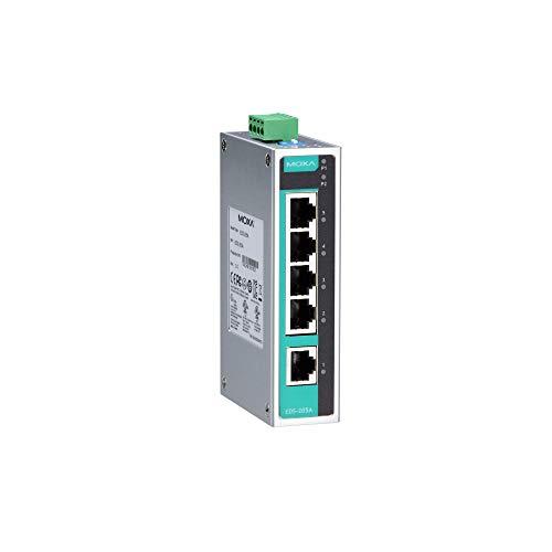 MOXA eds-205 a Unmanaged VB nätverksswitch nätverksomkopplare – switchar nätverk (Unmanaged VB Network Switch, Full Duplex)