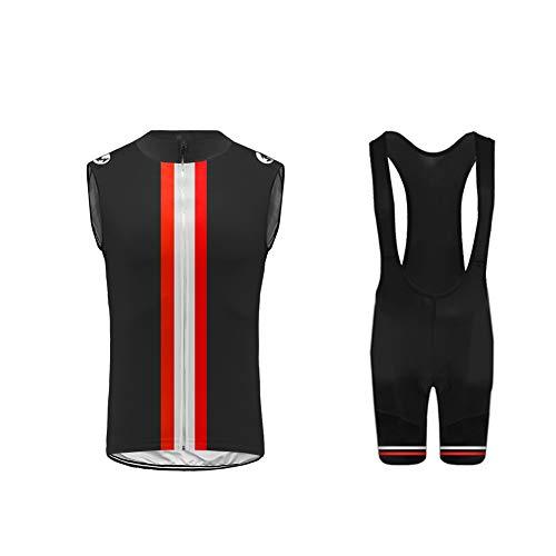Uglyfrog® Rennrad MTB Bike Wear Radtrikot Herren Ärmellos Fahrradbekleidung Set Outdoor Sports Radfahren Jersey Vest + Radfahren Latzhose Shorts im Sommer DEHerren20