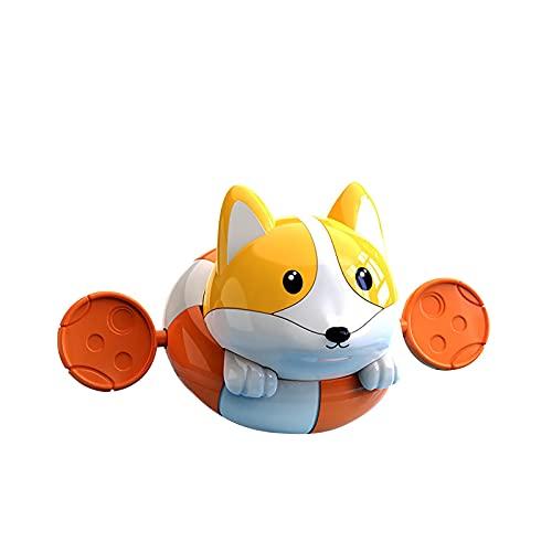 ZXVC Baby Bad Spielzeug Uhrwerk Hund Aufziehen Spielzeug Wasserspielzeug Für Kleinkinder Jungen Mädchen, Schwimmen Hund Sommer Pool Bad Float Spielzeug Badewanne Spielzeug