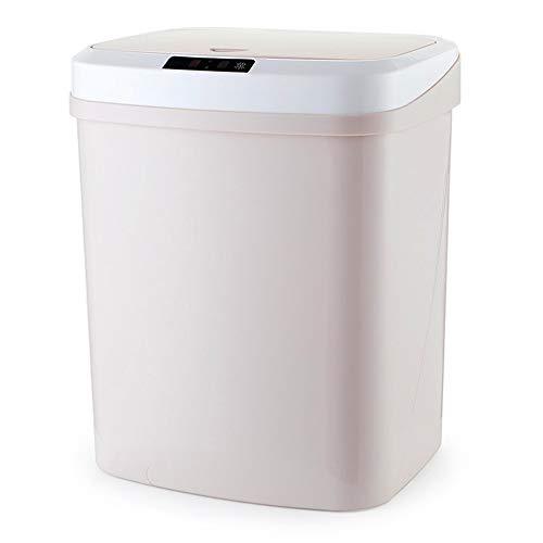 XinC 15L Automatische Touchless intelligente Infrarot-Bewegungs-Sensor-Müll Abfalleimer Küchenpapierkorb Mülltonnen für Home Zimmer, Berührungsfreie Rechteckige Recycler,D