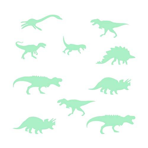 STOBOK Dibujos animados luminoso pared pegatina resplandor en la oscuridad dinosaurio fluorescente pared calcomanía decoración del hogar niños habitación decoración (KW3210)