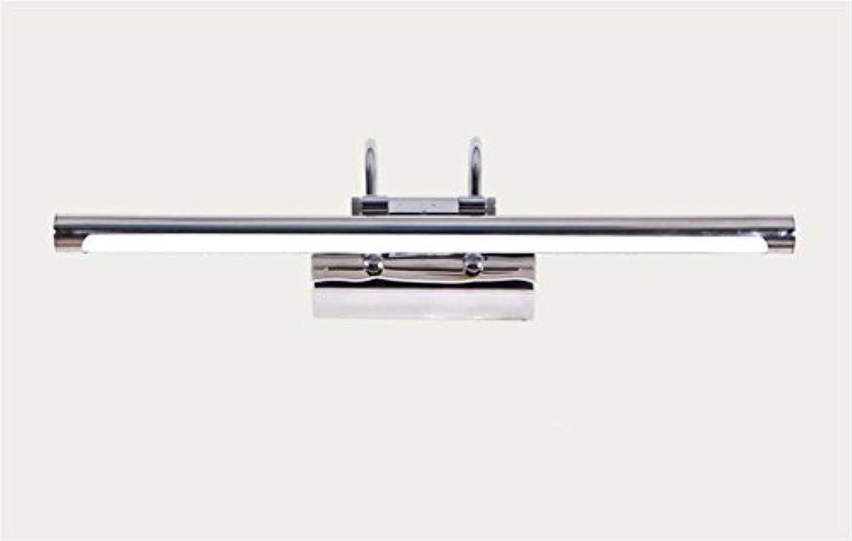 SSQ-CXO LED Spiegel Frontleuchte Edelstahl Wasserdichte Nebel Spiegel Lampe Wandleuchte Bad Spiegel Schrank Make-Up Lampe , warm Weiß light , Silbery 60cm