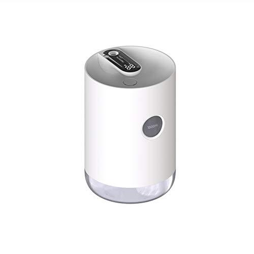 Humidificador de niebla fría – Humidificador de aire de carga USB, 32 oz/1 l de gran capacidad, humidificador de escritorio con luz nocturna PingGongHuaKeJiYouXianGongSi (color: blanco perla)