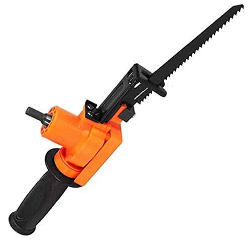 Eléctrica sierra de vaivén eléctrica motosierra alternativa Taladro para Madera Metal rebanar herramienta de corte/Orange percusión Herramientas