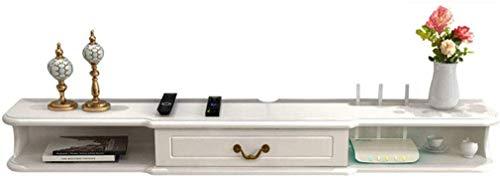 ZXYY Wandplank Zwevende plank Wandmontage TV-kast Achtergrond Wandplank met Lade TV Console DVD WiFi Router Hout (Kleur : A-1.4m) B-1.2m