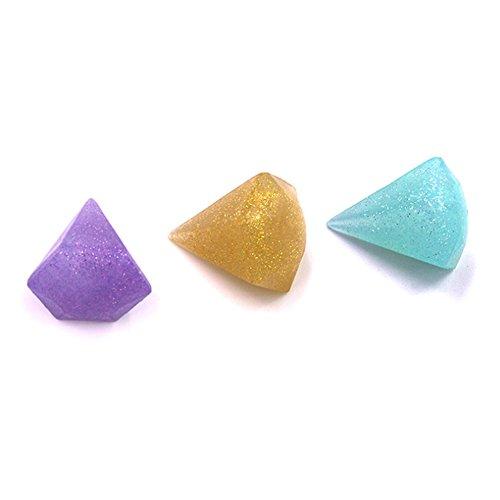 3D dreidimensionale Silikon Puderquaste nass und trocken (Rhombus lila) 1pc