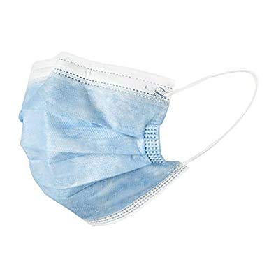 Disposable Non-Woven Mask, Dust-Proof Safety Personal Protection Breathable Mask, Respirator with Earmuffs, Standard Mask (blue)