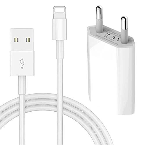 MEROM Cargador Fuente de Alimentación 5V 1A para i Phone 5S 6 6S 6 Plus 6S Plus 7 7 Plus 8 8 Plus XS X XS MAX i Pod Touch 5G Nano 7G Cable Adaptador USB