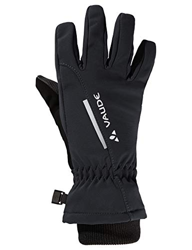 VAUDE Kinder Kids Softshell Gloves Handschuhe, Black Uni, 4