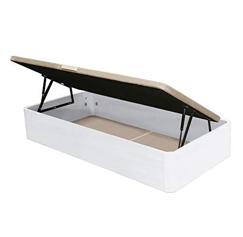 Venprodin Canape Abatible con Apertura Lateral De Gran Capacidad de 90x190 Color Blanco