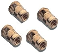 Brand New 20 pcs BRASS INSERTS in Plastic In HOT PRESS NC 6-32, Length 0.281