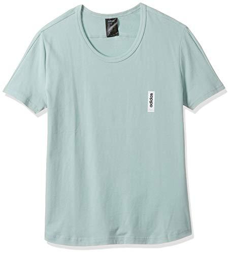 adidas W BB T Camiseta de Manga Corta, Mujer, Green Tint, M