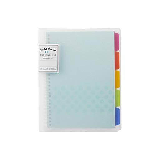 Notizbuch, A5, wiederverwendbar, Spiralbindung, nachfüllbar, mit Trennblättern, Campus blau