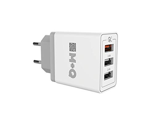 M+Q Chargeur rapide USB Quick Charge 3.0 mural 30 W Charge rapide QUALCOMM QC3.0 Compatible avec téléphones Samsung Galaxy S10/S9/S8/S7/S6/Note, iPhone, iPad.