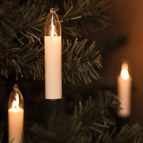 Unbekannt Weihnachtsbaumkette, 30 x E10/8V/3W, ROTPFEIL