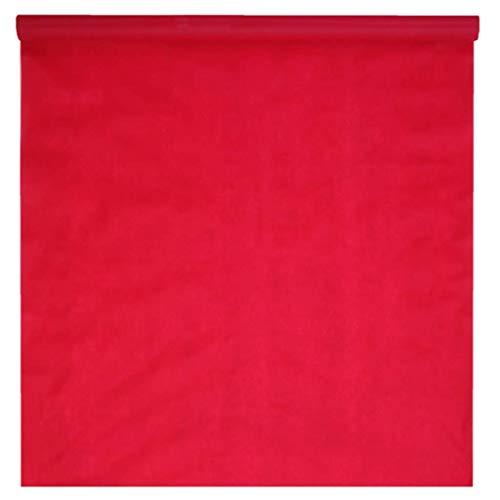 Santex 5481-7-100 - Alfombra opaca desechable (15 m), color rojo