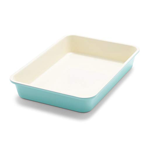 GreenLife Bakeware Healthy Ceramic Nonstick, Rectangular Cake Pan, 13' x 9', Turquoise