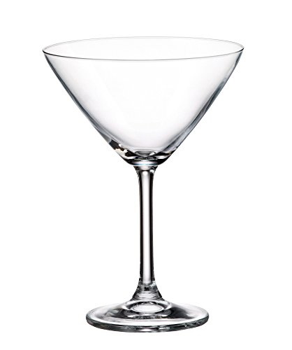 Juego 6 Copas de Martini en Cristal de Bohemia Titanium 280 ml