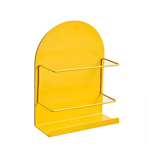 CHAOXIAN Estantes De Pared Baldas, Mini Magnético Soporte De Exhibición Refrigerador Cocina Miscelánea Estante De Almacenamiento, 5 Colores (Color : Yellow, Size : 26X8.5X20CM)